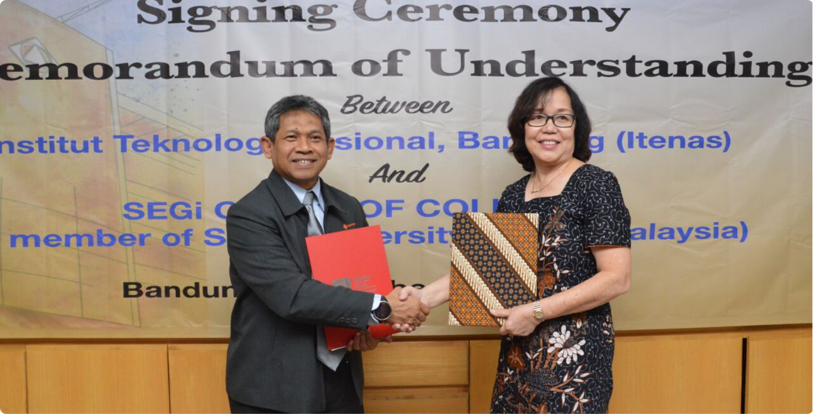 MoU signing ceremony between Itenas and SEGi Group of Colleges-Malaysia